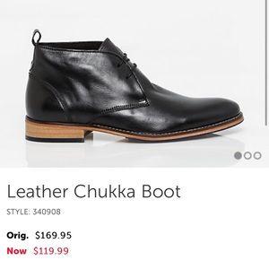 Le Chateau Black Leather Chukka Boot Size 42